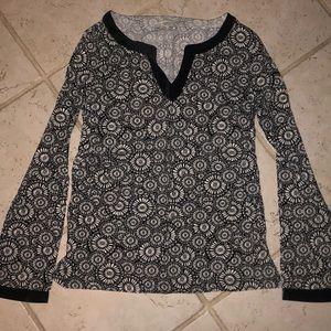 LOFT long sleeve patterned shirt